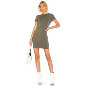 New T by Alexander Wang Compact Jersey Snaps Dress